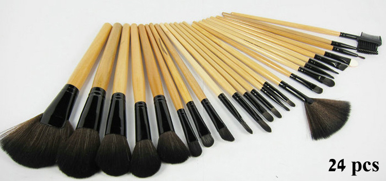 24 pcs Profissional Maquiagem Makeup Brushes Set Wood Pincel Maquiagem Make up Kit De Pinceis De Maquiagen Maquillaje Kabuki(China (Mainland))