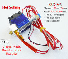 E3D-V5 Hot End Full Kit – 1.75mm 12V Bowden/RepRap 3d printer extruder parts accessories e3d v5 print head nozzle free shipping