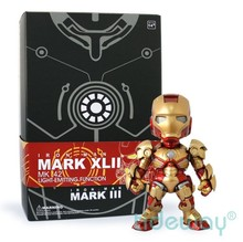 Buy Movie Iron Man 3 Mark 42 Mark XLII Super Hero PVC Action Figure Model Toy LED Light Free for $22.67 in AliExpress store