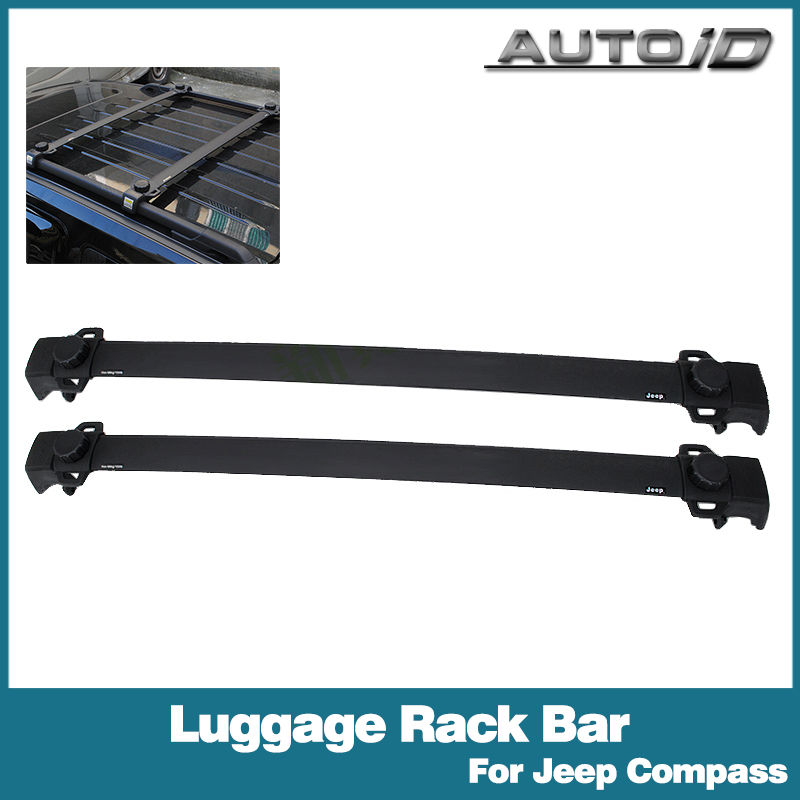 1 Pair Black Car Roof Rack Cross Bars Luggage Rack Bar For Jeep Compass 2011-2014(China (Mainland))