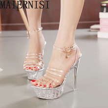 Sexy Peep Toe Valentine Shoes Woman High Heel 14cm High Women High Heels Women Wedge Shoes Pumps Rhinestone Shoes(China (Mainland))