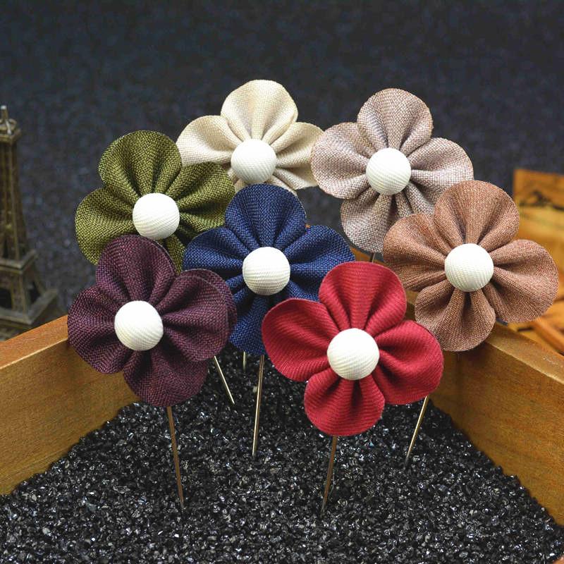 2015 Fashion Men's Handmade Flowers Boutonniere Men's Accessories Suit Accessories(China (Mainland))