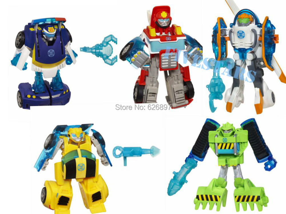 New Loose Original Playskool Heroes Rescue Bots Transformation Boulder the Construction Optimus Prime Bumblebee Gift Toy For Boy(China (Mainland))