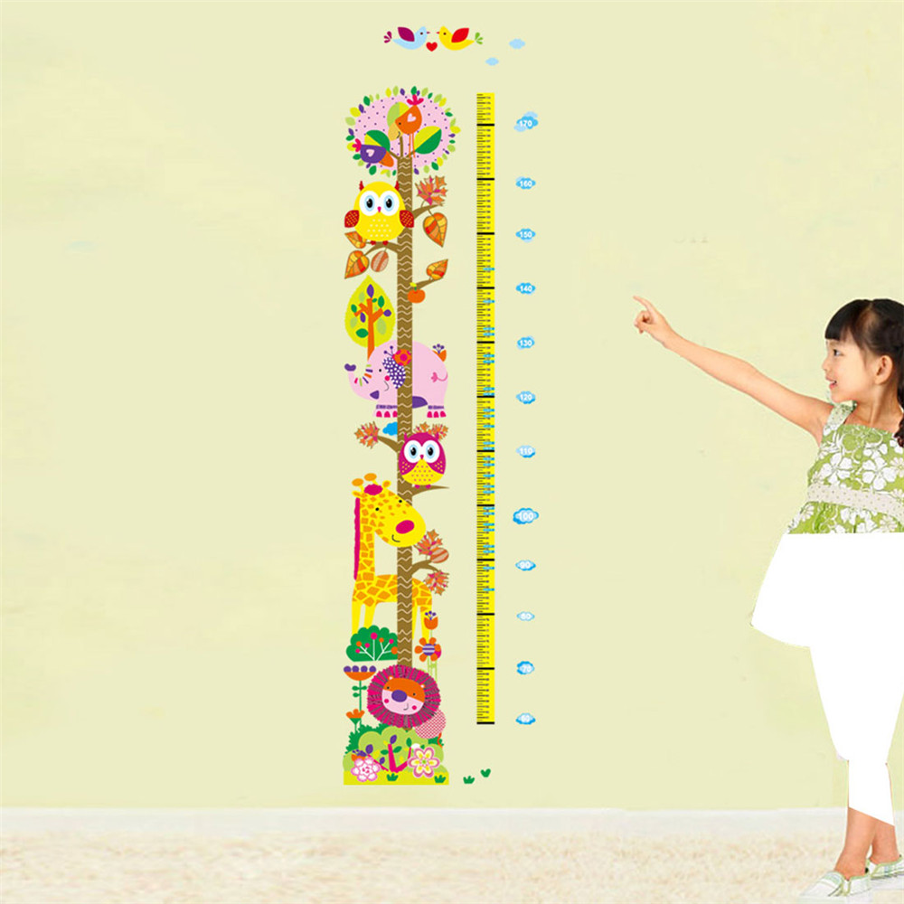 Kids Height Chart Wall Sticker home Decor Cartoon Giraffe Height Ruler Room Decals Wall Art Sticker Easy to apply and to remove(China (Mainland))