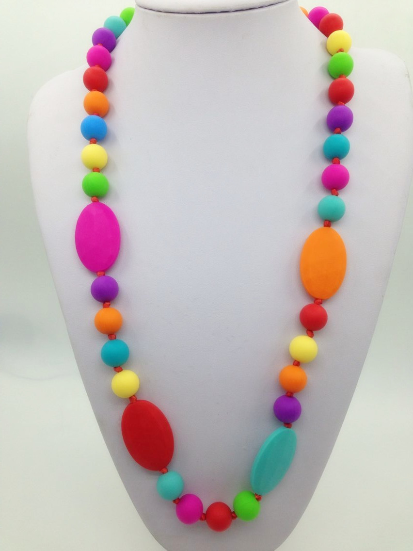 Buy baby silicone teething necklace for When can babies wear jewelry