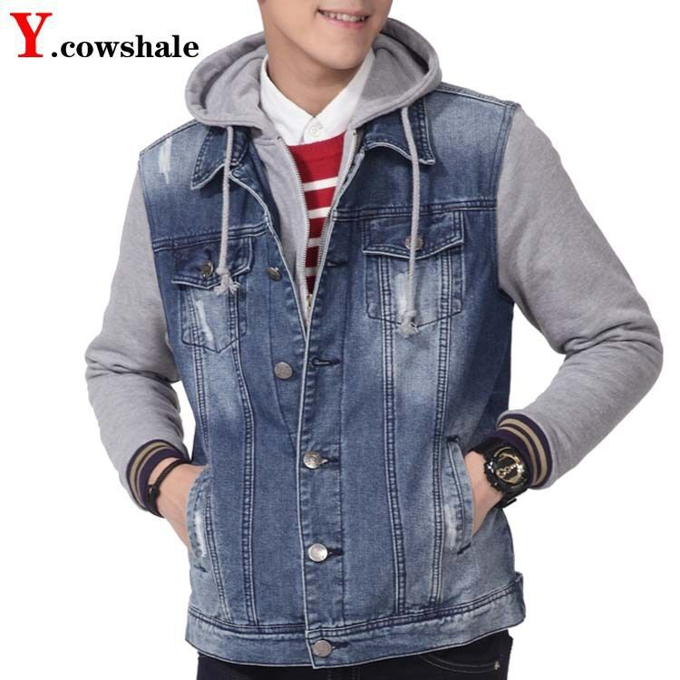 Jean jacket with sweater arms – Jackets photo blog