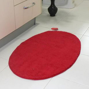 red oval soft american style summer washable bathroom