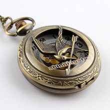 Fashion Jewelry the hunger game Retro Necklace Pocket watch 2014 new russia hunger games pocket watch