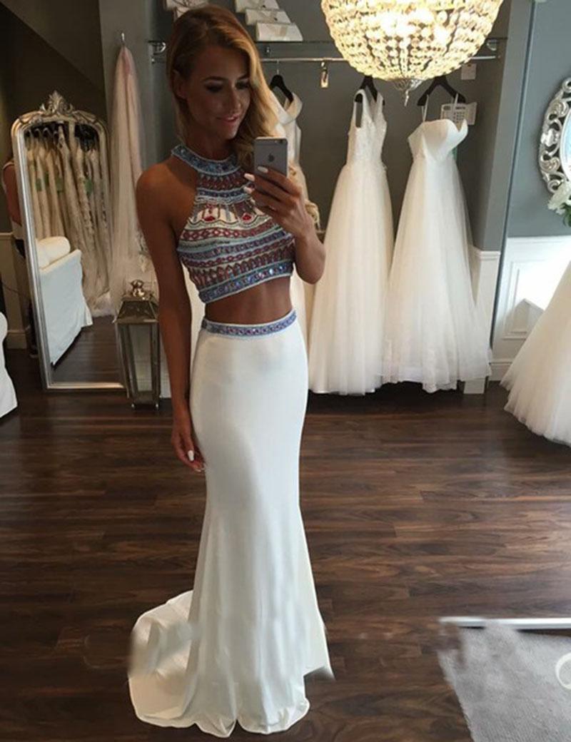 halter neck prom dresses
