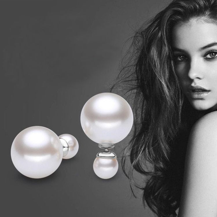 Pearl earrings High-end fashion earrings with Europe and the United States star jewelry pearl earrings LI020(China (Mainland))