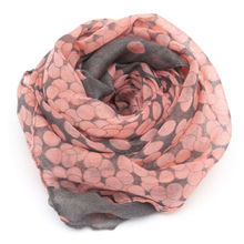 1 HOT Women Lady Winter Autumn Warm Soft Long Pink Grey Dots Voile Neck Large Scarf Wrap Shawl Stole Scarve Pashmina Xmas Gift(China (Mainland))