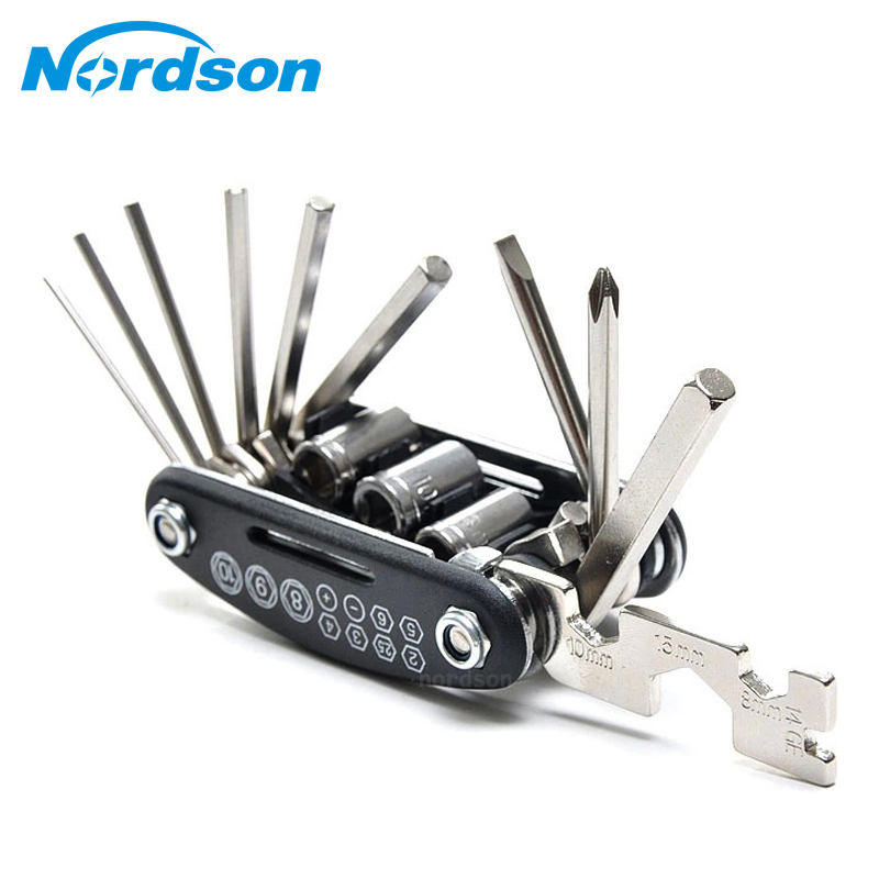 16 In 1 Multi-Function Motorcycle Bike Repair Tools Travel Kit Allen Key Multi Hex Wrench Screwdriver Kits Moto Tools(China (Mainland))
