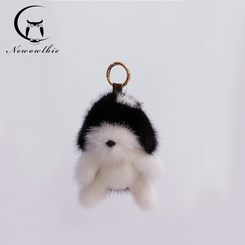 New2016 Copenhagen mink fur accessory dog ornaments Upscale car ornaments Keychain women Bag pendant jewelry Creative doll(China (Mainland))