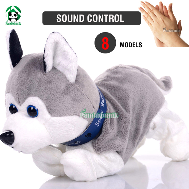 Electronic Pet Interactive Dog Sound Control Dogs Baby Toy  Brinquedos Plush Dolls Dog Toys For Children With Sound