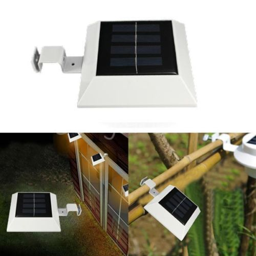 Solar Panel Powered Waterproof 4LED Garden Yard Fence Corridor Lamp Outdoor Bright Wall Light Lighting<br><br>Aliexpress