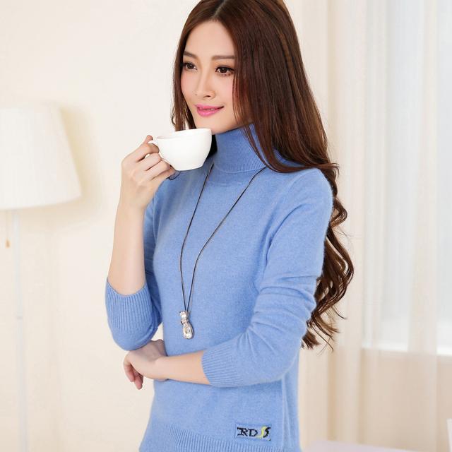 Free 2014 Женщины Outerwear Basic свитер Вязанный Pullover Cashmere Повседневный ...