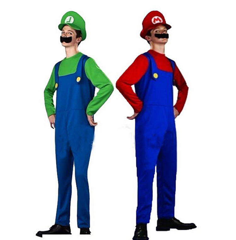 3 pieces two colors funny cute super mario adult costume role play cosplay carnival halloween. Black Bedroom Furniture Sets. Home Design Ideas
