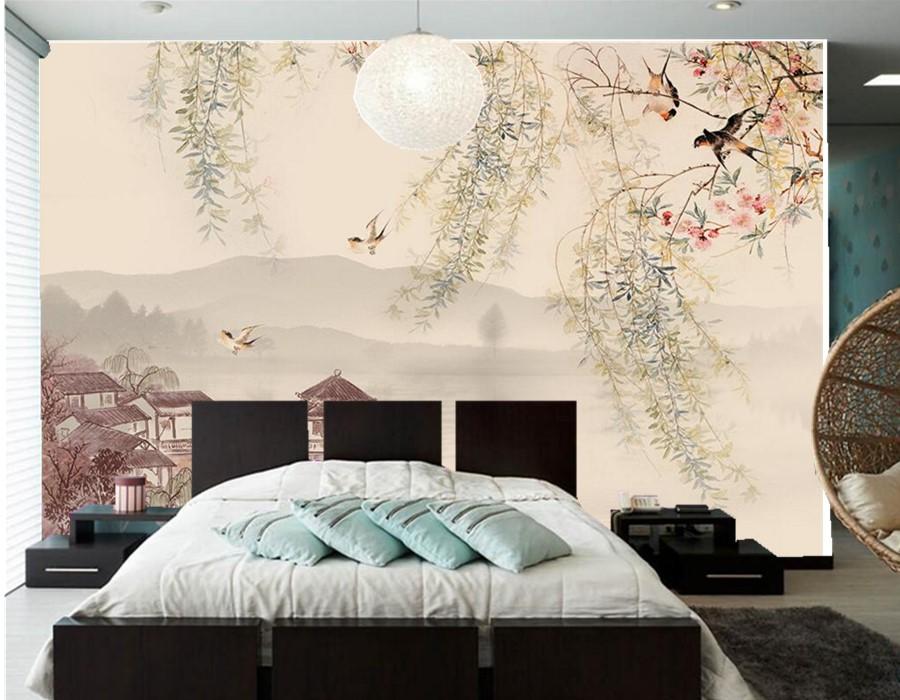 Papier peint traditionnel promotion achetez des papier for Chambre chinoise