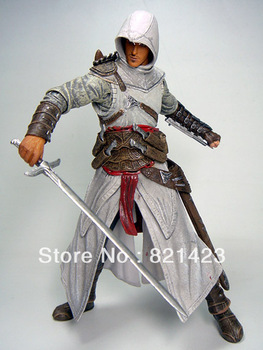Best selling!! High Quality Cheap Assassin Creed Altair Player PVC Action Figures Toy Free shipping