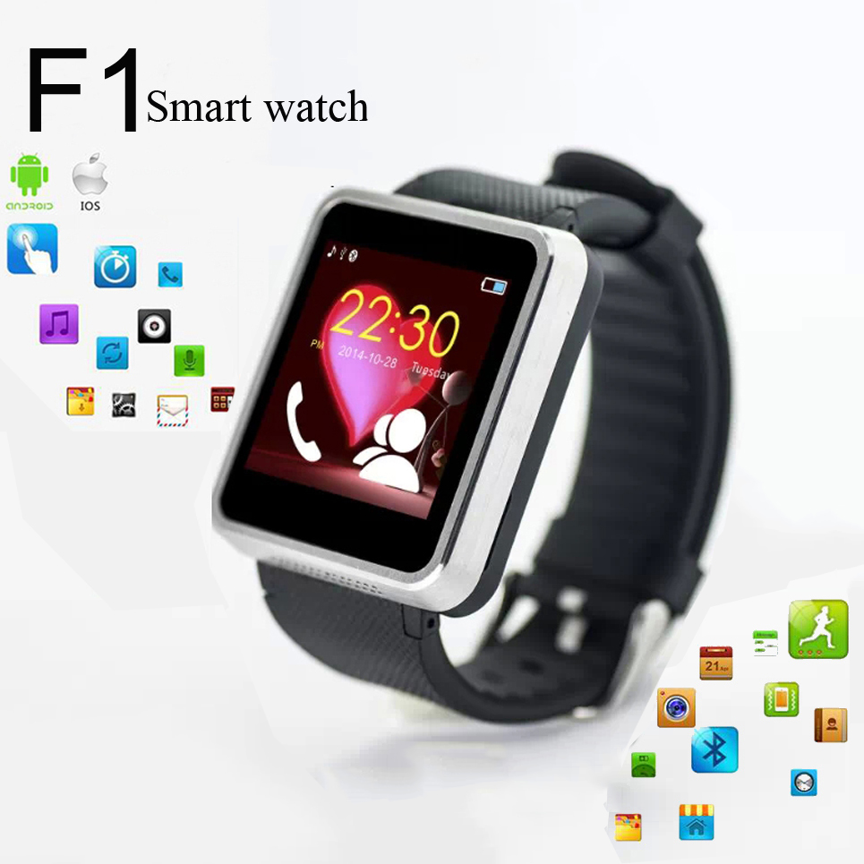 Bluetooth Smart Watch F1 Waterproof Smartwatch For Apple ISO Android Phone With 1.3MP Camera Support SIM Card 32G TF Card WT8970(China (Mainland))