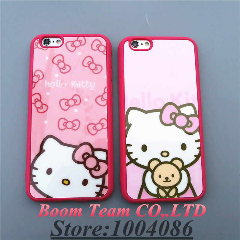 New Fashion Luxury black Hello Kitty Bear Arms soft tpu cover case for iphone 5/5s 6 6s plus back carcasa coque capa fundas case(China (Mainland))