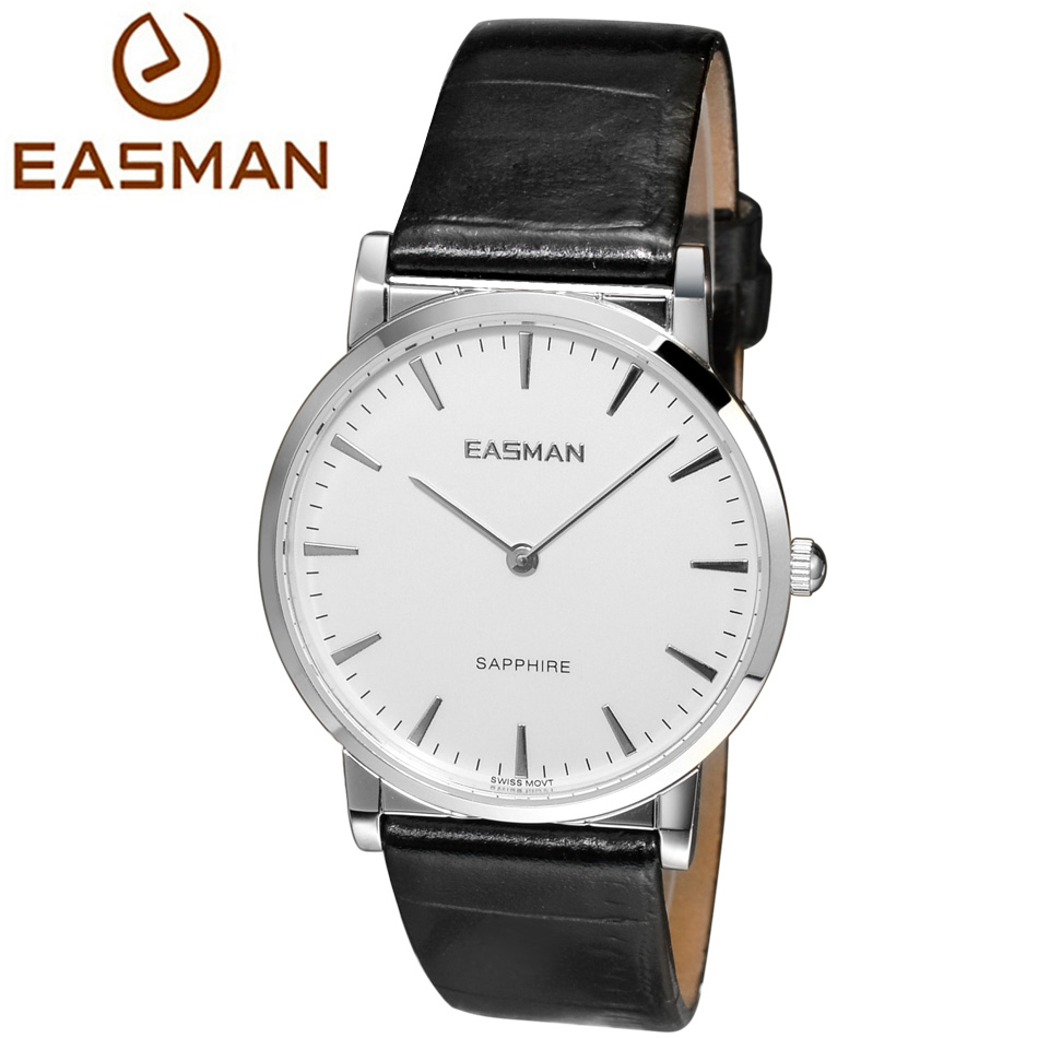 EASMAN Watch Shop Ultra-thin Series Watches of Switzerland Black Genuine Leather Sapphire Glass Watches for men<br><br>Aliexpress