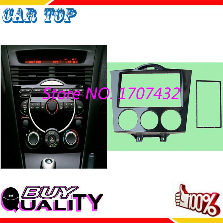 Купить Бесплатная Доставка Новый CT-CARID Double Din CD DVD Стерео Аудио панель панель Для MAZDA RX-8 RX8 2003 + Фризовая Радио Лица пластины