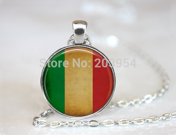 New 12pcs/lot 25mm (1 inch) Italy Pendant, Italy Necklace, Italian Flag, Italian Pendant, Italy Flag, Italian Pride steampunk<br><br>Aliexpress