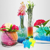 500 pcs/bag Pearl shaped Crystal Mud Soil Water Beads Bio Gel Grow Magic Jelly Ball For Flower Weeding marriage Home Decor