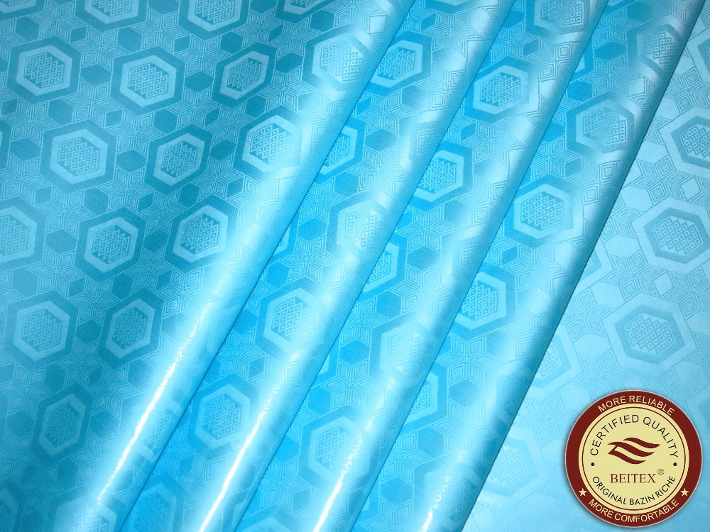 10Yards Austria Quality Bazin Riche Fabric (SIMILAR TO getzner) Jacquard Guinea Brocade Fabric 100% Cotton Damask Shadda