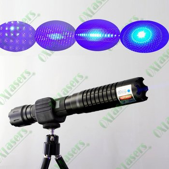 oxlasers OX-BX5 445nm 2000mw-5000mw  burning focusable blue laser pointer (5 star caps) with safety glasses+Free Shipping