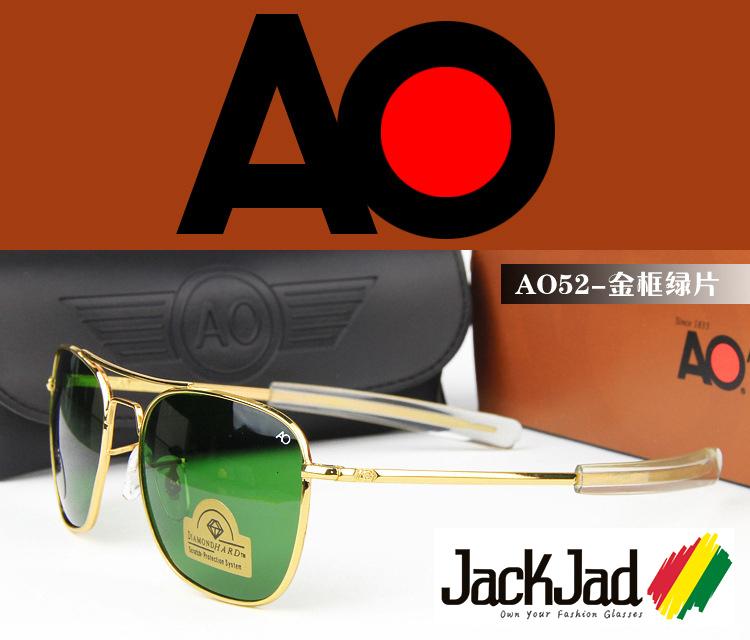 american aviator sunglasses j26c  2016 New Army MILITARY AO Brand Sunglasses American Optical Glass Lens  Metal Alloy Frame Sun Glasses