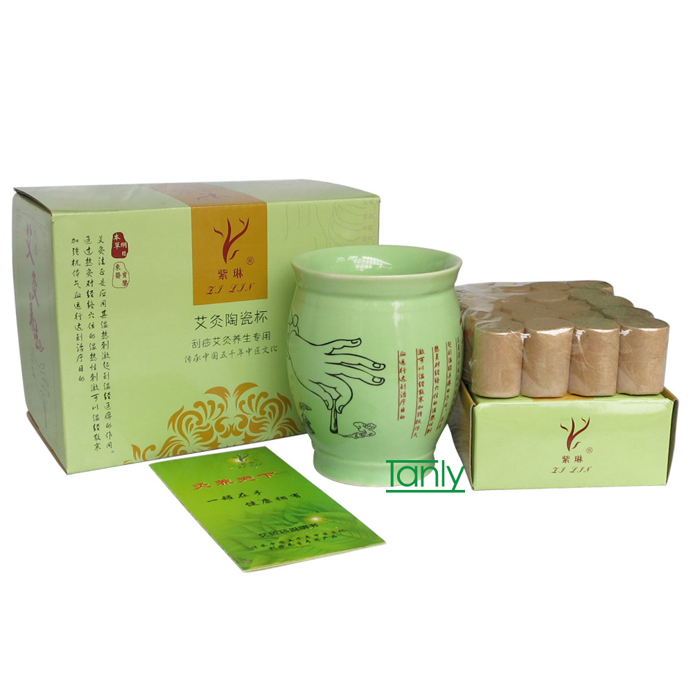 Wholesale and retail zilin multifunction ceramics guasha moxa-moxibustion cup <br><br>Aliexpress