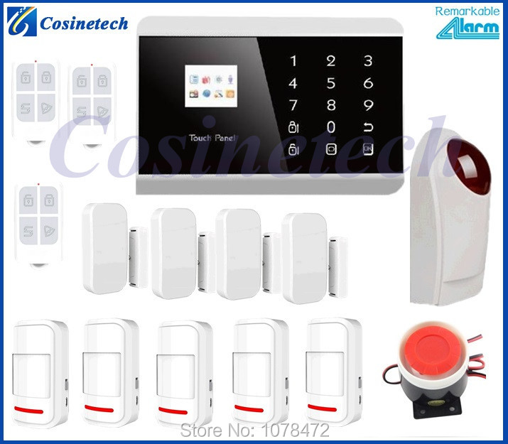 IOS/ Android APP English/French/Russian/Spanish alarm panel,101 defense zones Wireless&amp;Wired GSM PSTN alarm System <br><br>Aliexpress