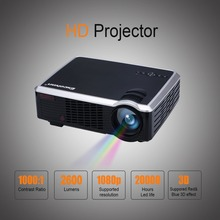 Newest Excelvan LED33-02 HD Projector 2000 Lumens Home Theater Support AV/VGA/HDMI/USB Input Fashionable Design for PC&Laptop(China (Mainland))