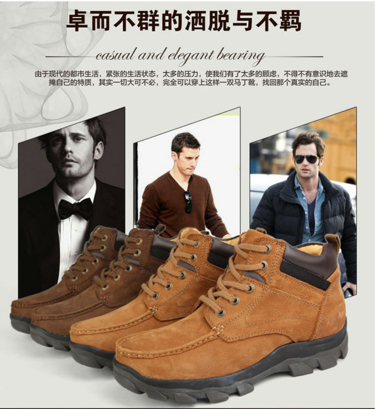 Free Shipping Men's Warm Fur Boots Male Genuine Head Layer Cowhide