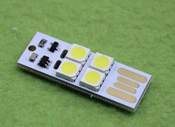 5PCS / LOT USB light touch switch, LG source, computer keyboard light, ultra-slim mini USB lamp (E5A3)(China (Mainland))