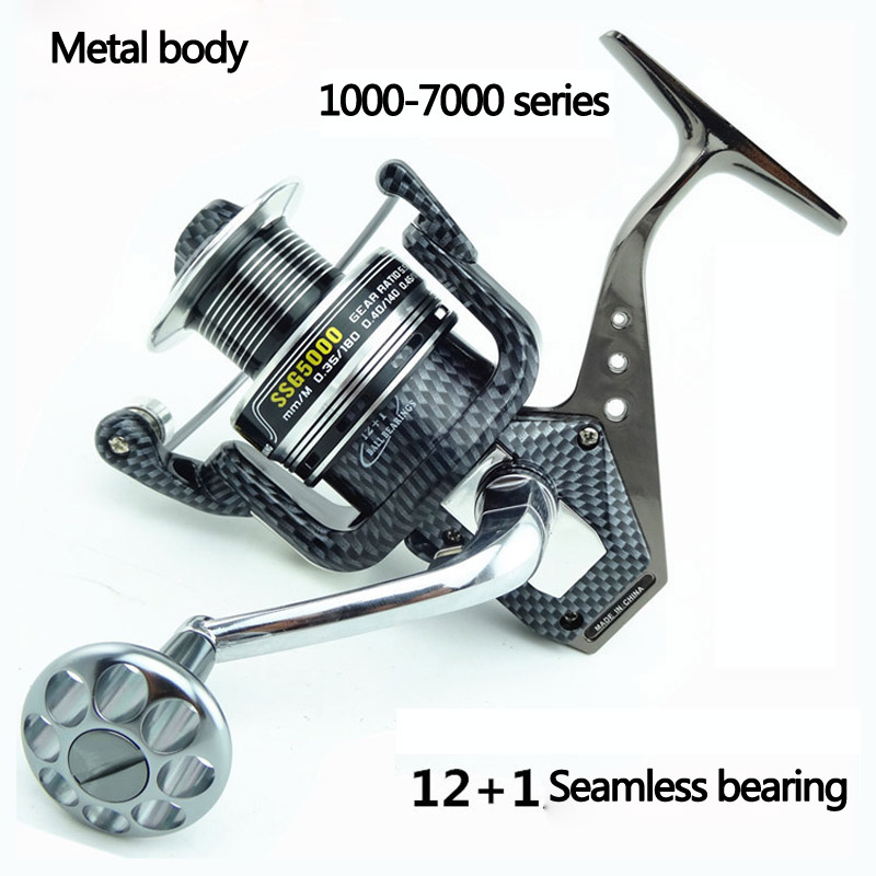 2016 New German Technology 12+1 BB Bearing Balls 2000-6000 Spinning Reel Hot Sale for Feeder Fishing reel pesca от Aliexpress INT
