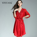 SALE 100 Genuine Silk Bathrobes Female Two Piece Luxury Sexy Silk Night Gowns Autumn Half