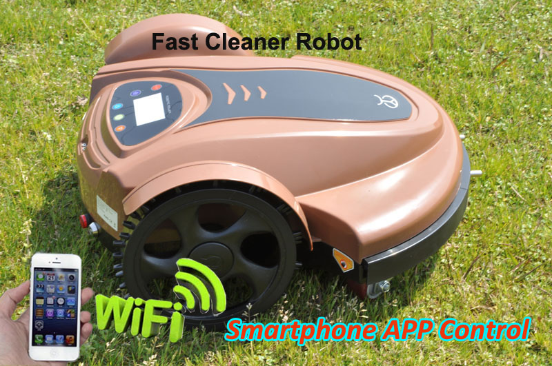 Smartphone WIFI App Robot Grass Mower TC-158N With Leadacid Battery and Newest And Water-proofed Charger,CE&ROHS(China (Mainland))