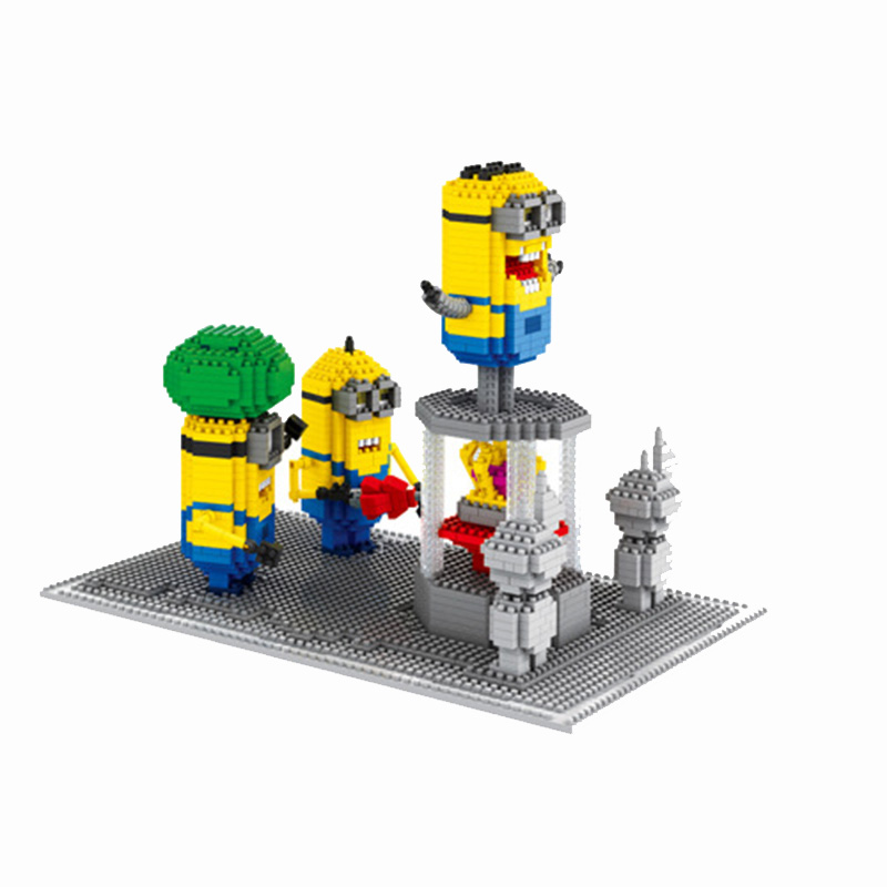 Фотография Minions Set Minifigures Toys Despicable Me Cartoon Cute Characters Nano Action Figures Gifts For Children
