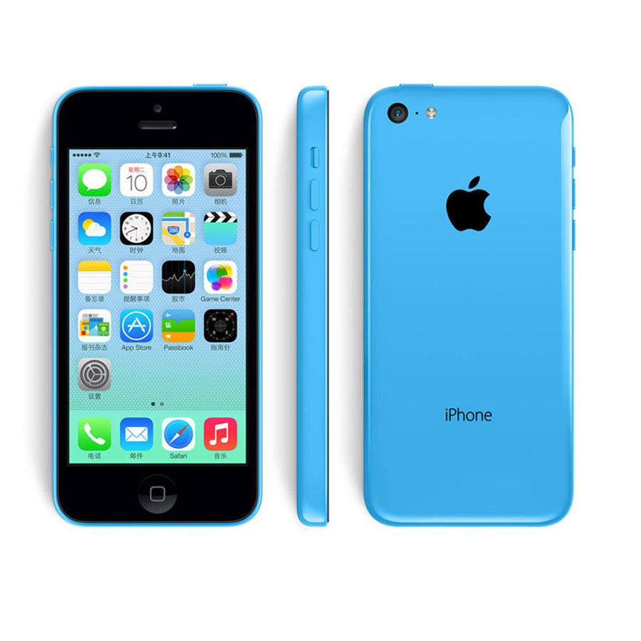 100% Original Apple iPhone 5C I5C Factory Unlocked IOS8 Dual Core Mobile Telefone 8GB/16GB/32GB ROM 8MP WCDMA 3G Phone A+ Grade(China (Mainland))