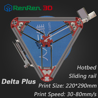2016 DIY High Precision delta 3d printer kit with auto level,injection,hot bed and filament