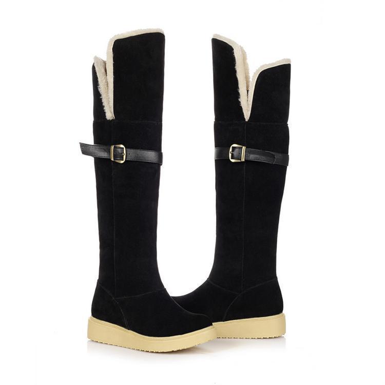 women brand Snow boots 2015 winter Classic waterproof Cozy Martin boots flat heel flat bottomover-the-knee elastic boots c019(China (Mainland))