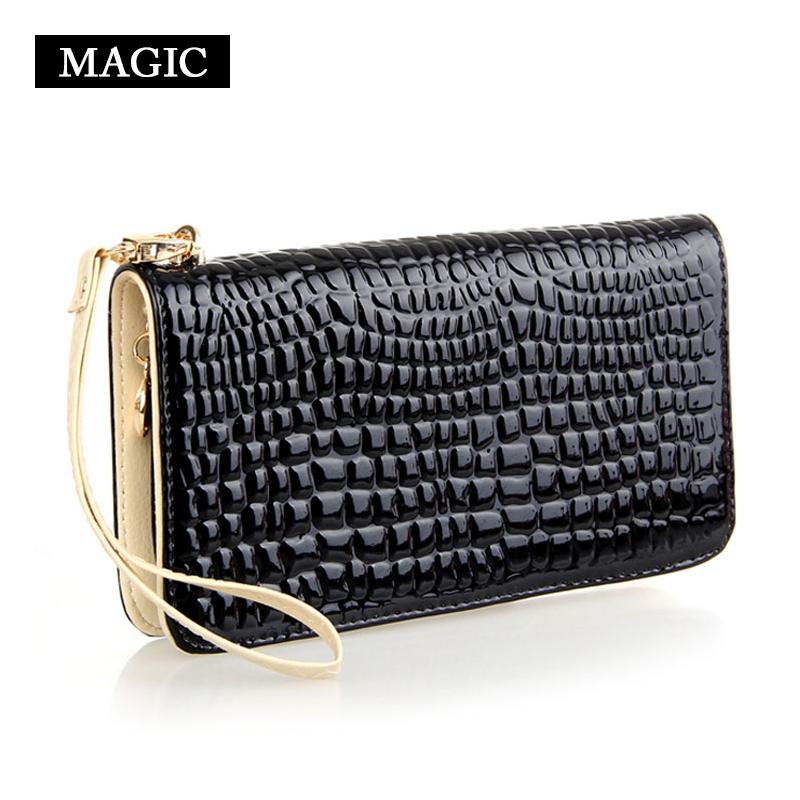 Wallets Female Bag Japanned Leather Bag Long Design Zipper Wallet Female Day Clutch Card Holder <br><br>Aliexpress