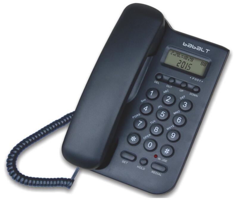 Wall Telephone Landline Wholesale Home Office Hotel Free Battery Bring Power Display Phone Call ID(China (Mainland))