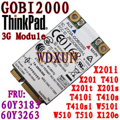 Thinkpad x201 T410 W510 3G Module WWAN Card GOBI2000 60Y3263 LENOVO