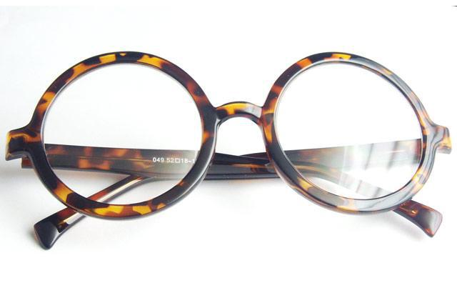 Vintage Eyeglass Frames Prescription Lenses : Retro 360 Round Eyeglass Frames Full rim Oversize Eyewear ...