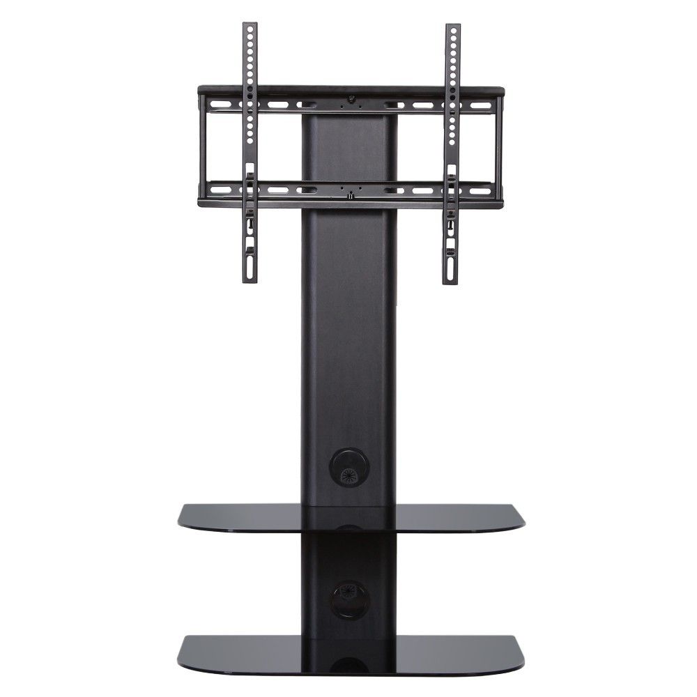 feng swivel tv wall mount with 2 tiers glass shelf for up. Black Bedroom Furniture Sets. Home Design Ideas