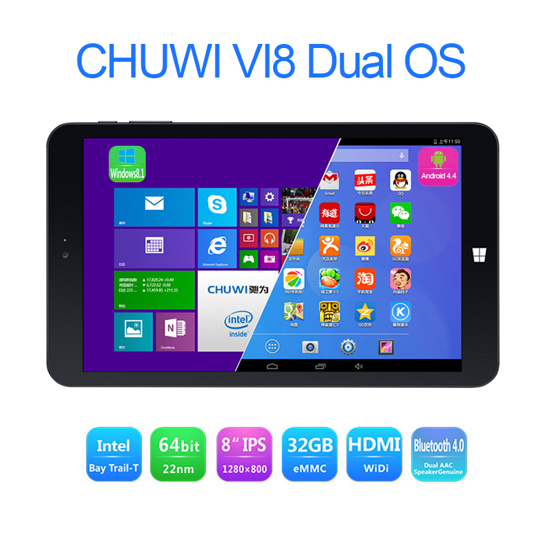 CHUWI VI8 Dual OS 2GB 32GB 8 inch IPS Intel Z3735F Windows 8.1 Android 4.4 WIFI Bluetooth HDMI tablet pc(China (Mainland))